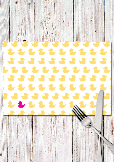 Mock up duck Placemat