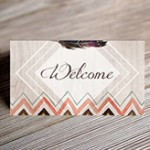 bohemian seating card mockup small