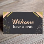 champagne seating card mockup small