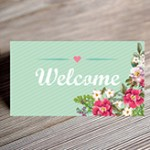 mint floral seating card mockup small