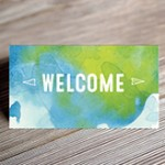 watercolor green seating card mockup small