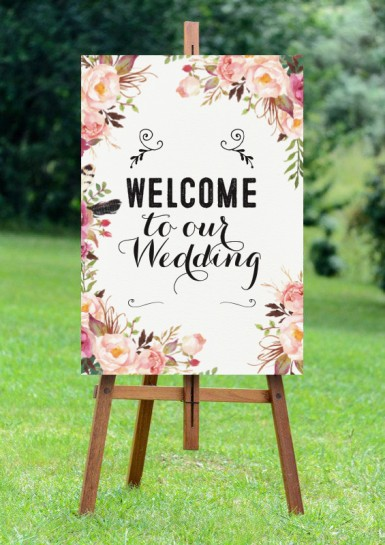 Welcome sign mockup