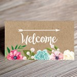 Craft flower seating card mockup small