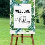 Welcome sign mockup Pure Tropicana