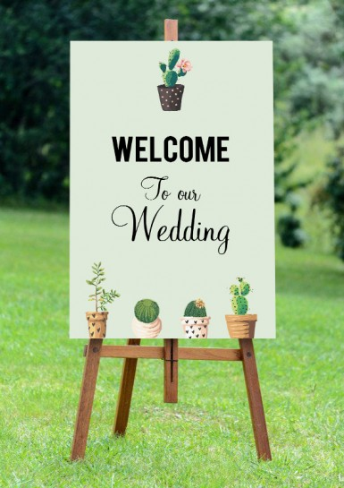 Welcome sign mockup Vertical